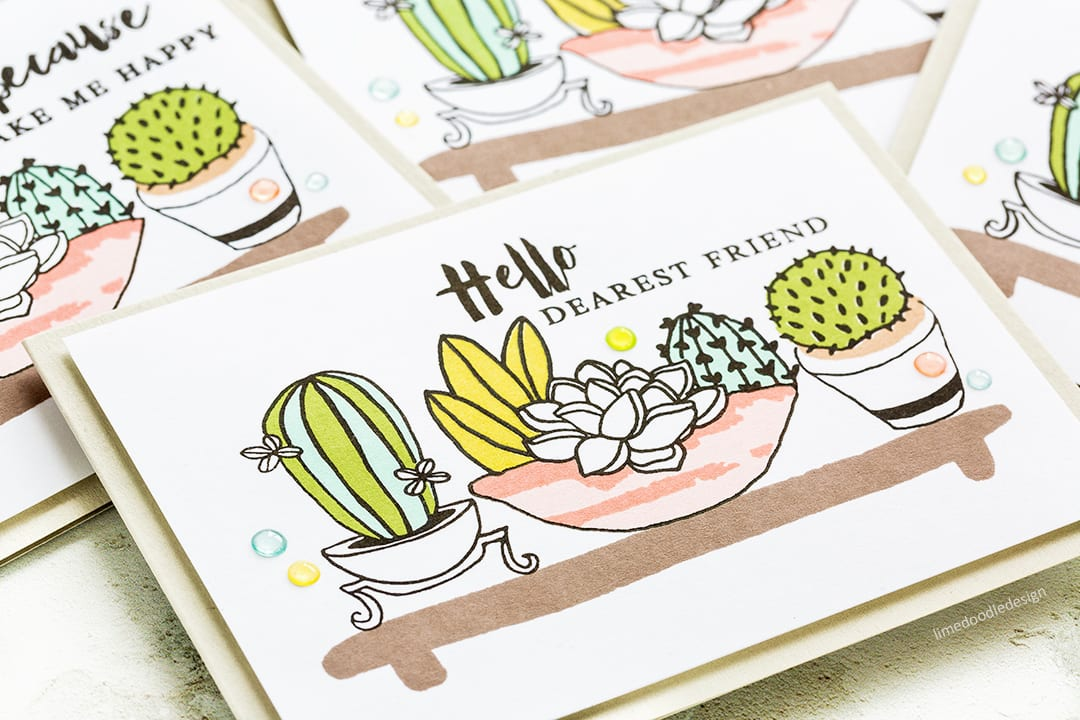 Reviewing the new July 2017 release from Altenew. Succulent and Cacti handmade card set by Debby Hughes. Find out more: https://limedoodledesign.com/2017/07/altenew-july-2017-release-blog-hop-giveaway/