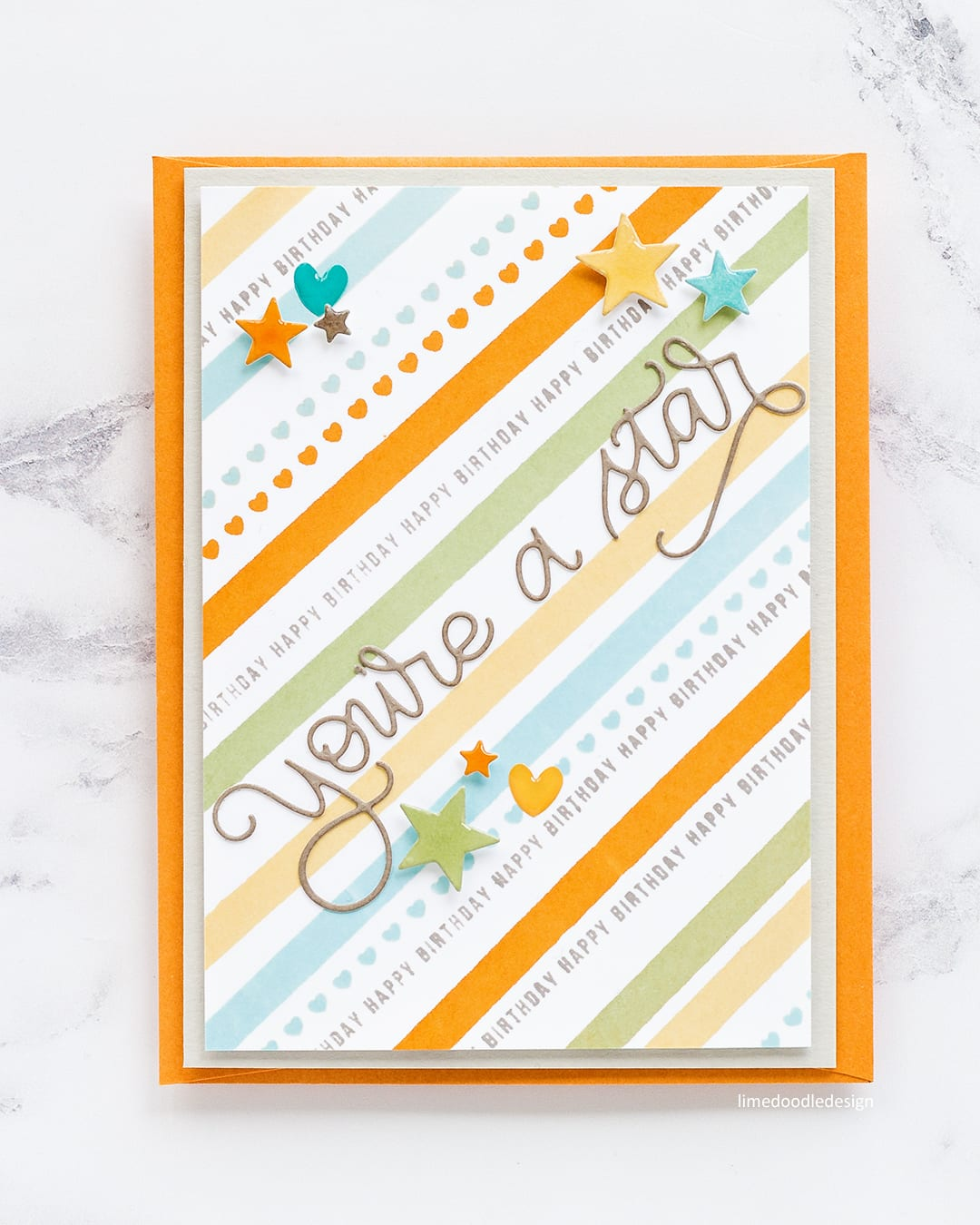 Stamped striped and plaid backgrounds with a few simple die cuts to embellish make great boys cards. Find out more about these handmade cards by Debby Hughes here: https://limedoodledesign.com/2017/08/stamped-striped-plaid-backgrounds/