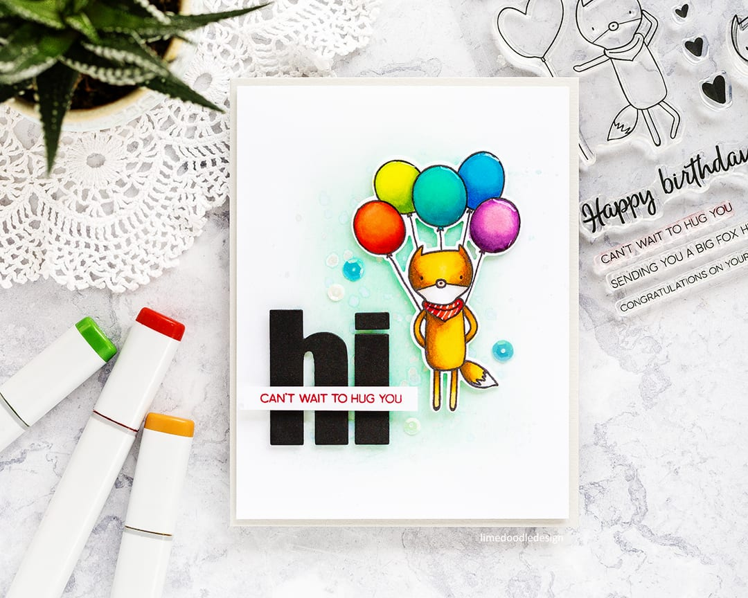Clean, simple and cute handmade card by Debby Hughes using the Altenew Hug Me set. Find out more here: https://limedoodledesign.com/2017/09/clean-simple-but-oh-so-cute/