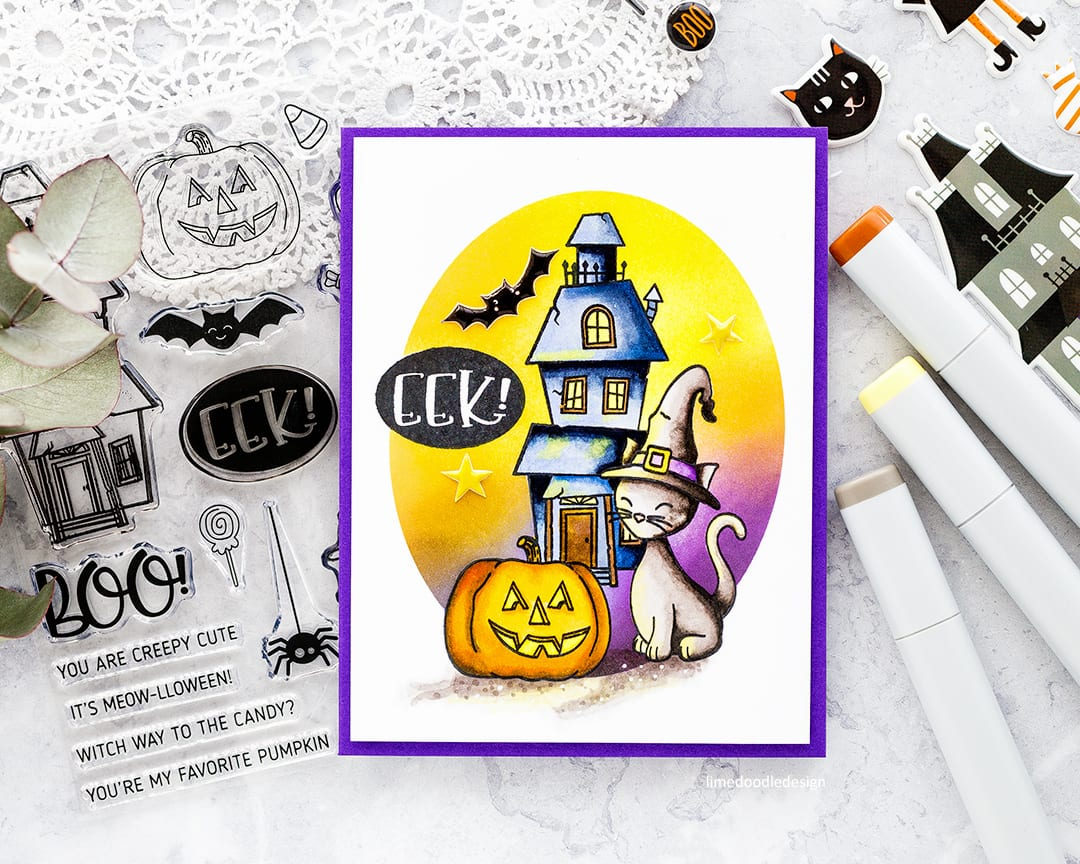 Creepy cute Halloween handmade card by Debby Hughes using the special edition card kit from Simon Says Stamp. Find out more here: https://limedoodledesign.com/2017/09/simon-says-stamp-special-edition-halloween-2017-card-kit/