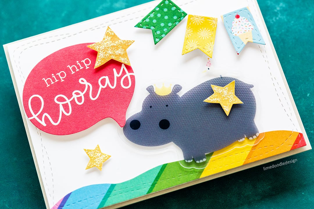 Quick & easy children's handmade cards using the Limited Edition STAMPtember Card Kit. Find out more about these kids cards here: https://limedoodledesign.com/2017/09/limited-edition-stamptember-card-kit/