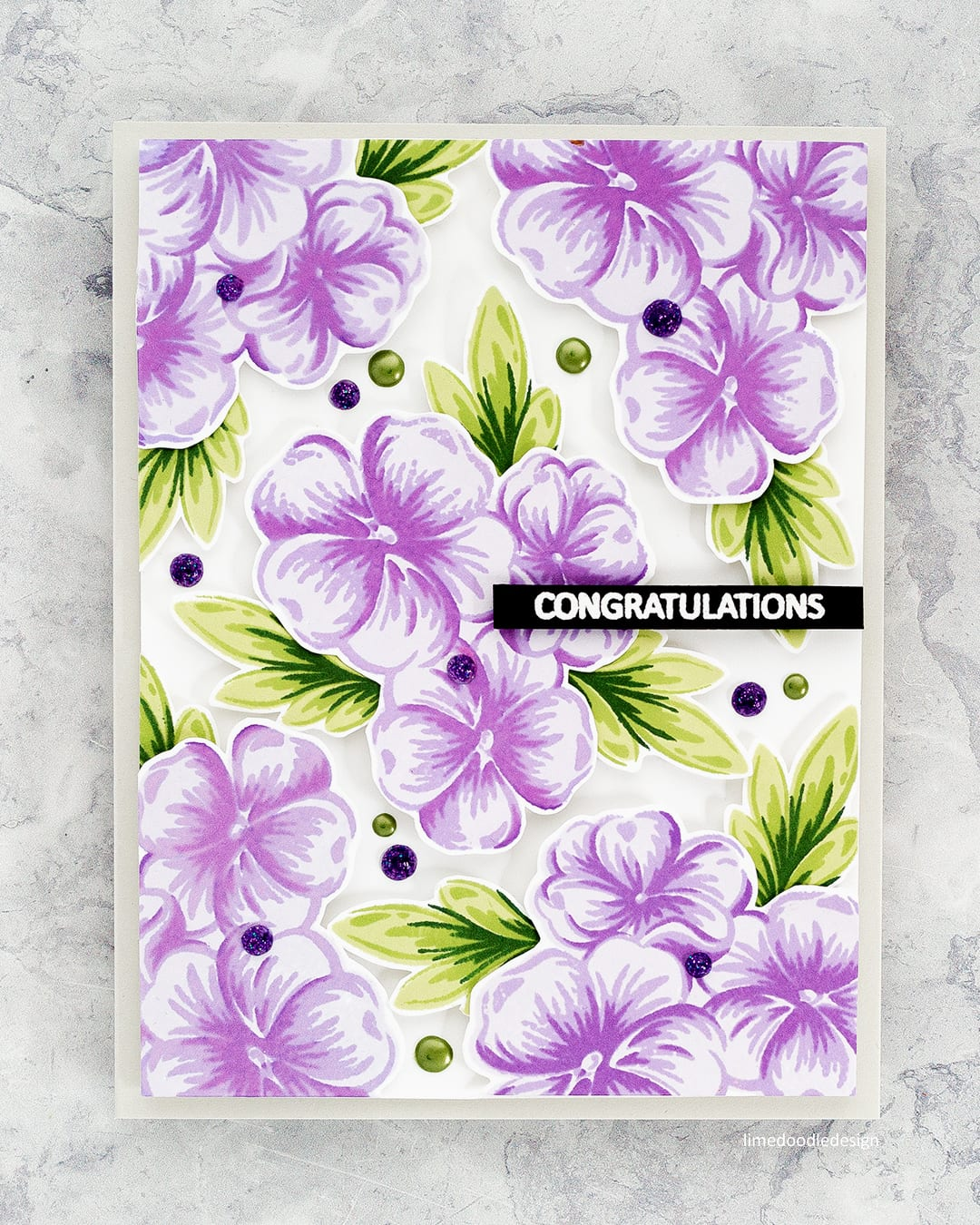 Full card floral background handmade card by Debby Hughes using the new Clearly Besotted STAMPtember My Best Friend stamp set. Find out more here: https://limedoodledesign.com/2017/09/clearly-besotted-stamptember/