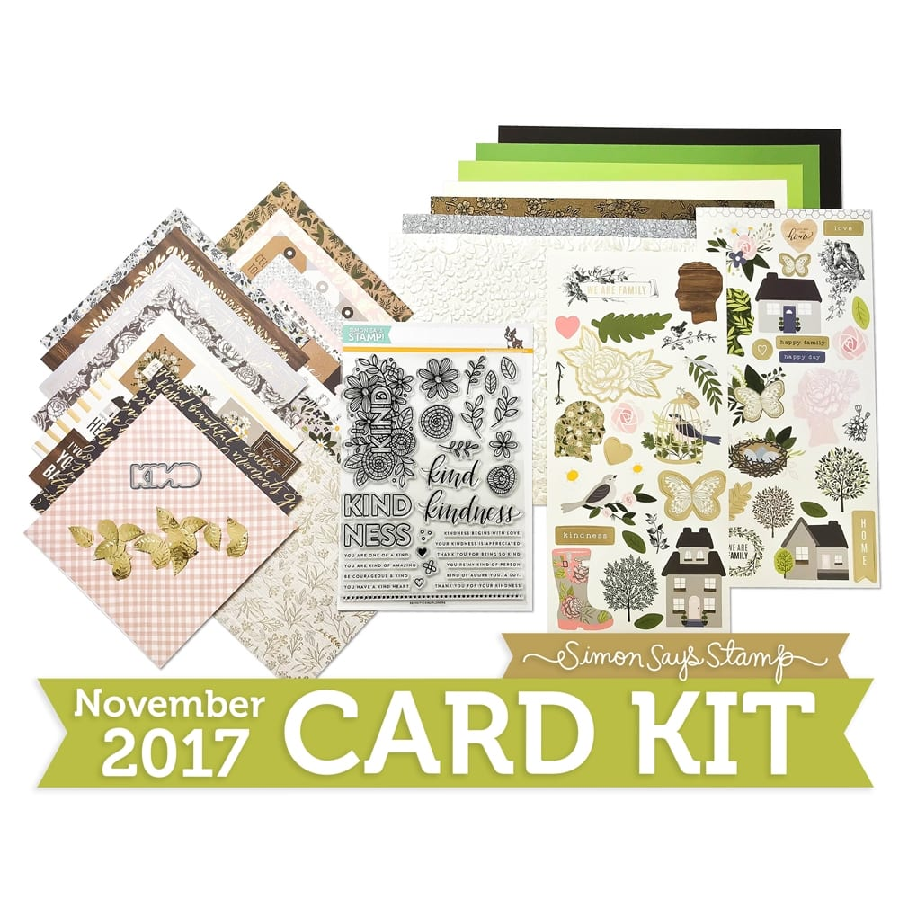 Video tutorial - super quick and easy handmade card and gift box using the patterned papers and stickers from the Simon Says Stamp November Card Kit. Find out more here: https://limedoodledesign.com/2017/10/video-quick-easy-card-gift-box/