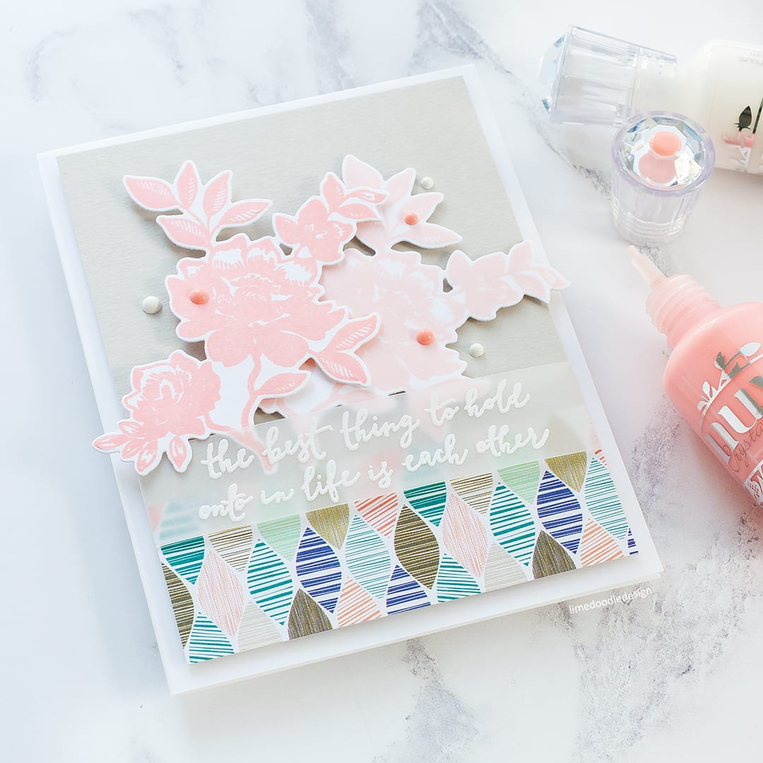 The best thing to hold onto in life is each other. Handmade card by Debby Hughes using the new Something Wonderful set from Reverse Confetti. Find out more here: https://limedoodledesign.com/2018/01/hold-onto-each-other-reverse-confetti-blog-hop/