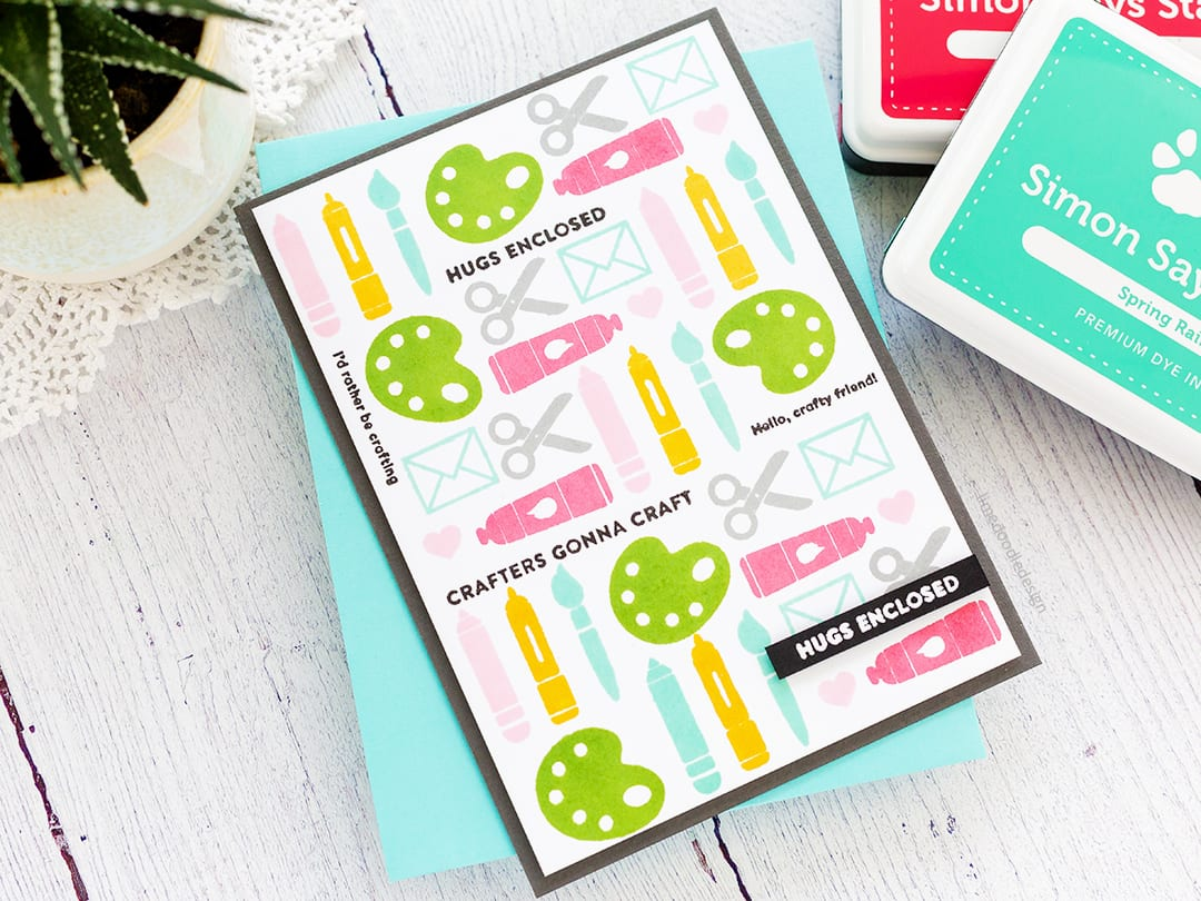 Stamped Background + Simon Says Stamp February 2018 Card Kit