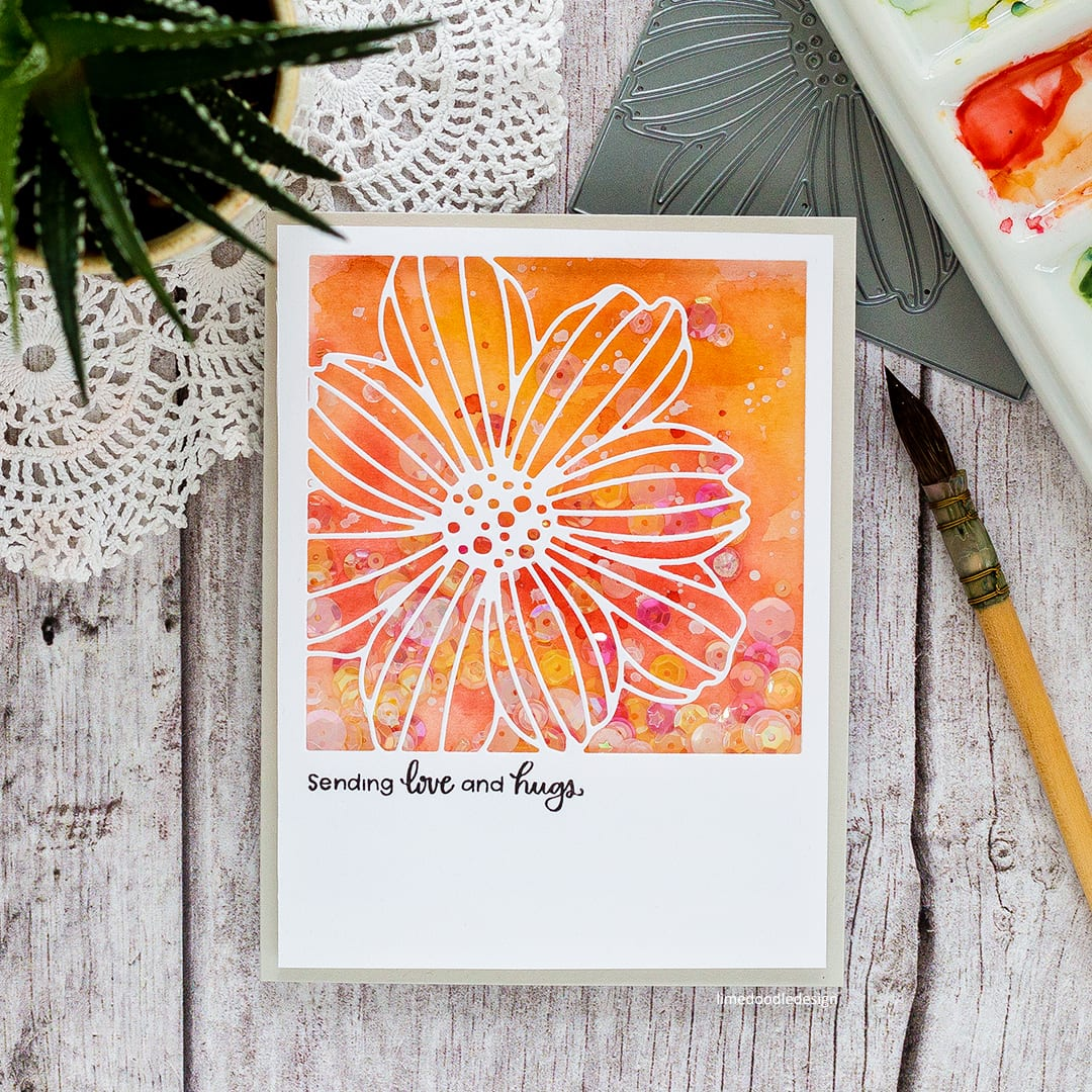 Fun flower handmade cards by Debby Hughes using the fun new Flower Frame dies from Simon Says Stamp. Find out more here: https://limedoodledesign.com/2018/01/flower-frames-simon-says-stamp-friends-release-blog-hop/