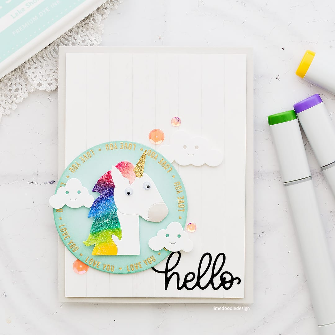 Picture Book Unicorn handmade cute unicorn card by Debby Hughes using supplies from Simon Says Stamp. Find out more here: https://limedoodledesign.com/2018/02/picture-book-unicorn/