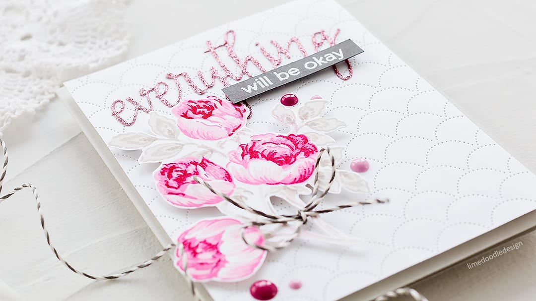 Video tutorial - multi layered rose handmade card by Debby Hughes. Find out more https://limedoodledesign.com/2018/03/video-altenew-march-stamp-die-release-blog-hop-giveaway/
