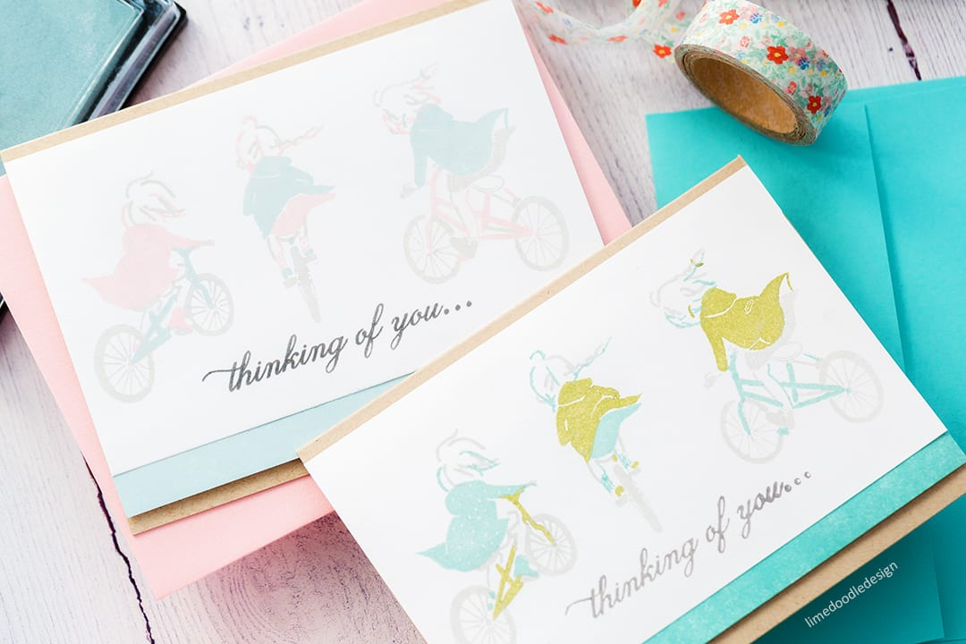 Simply stamped handmade card by Debby Hughes with beautiful nostalic illustrations by Waffle Flower Crafts. Find out more here: https://limedoodledesign.com/2018/03/nostalgic-illustrations/