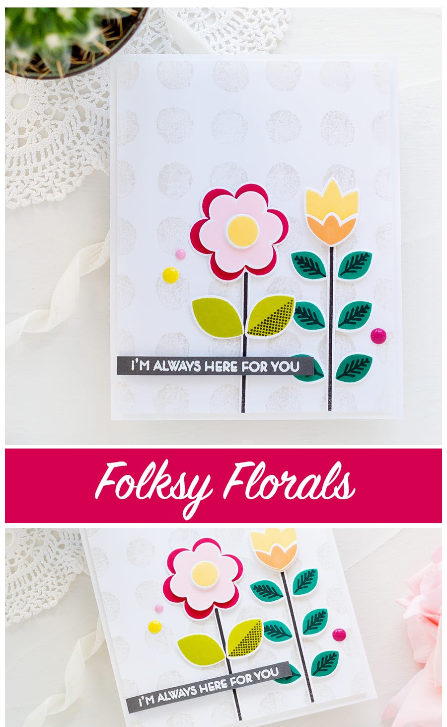 Folksy floral handmade card by Debby Hughes using new Altenew stamps and dies. Find out more: https://limedoodledesign.com/2018/04/altenew-april-2018-stamp-die-release-blog-hop-giveaway/