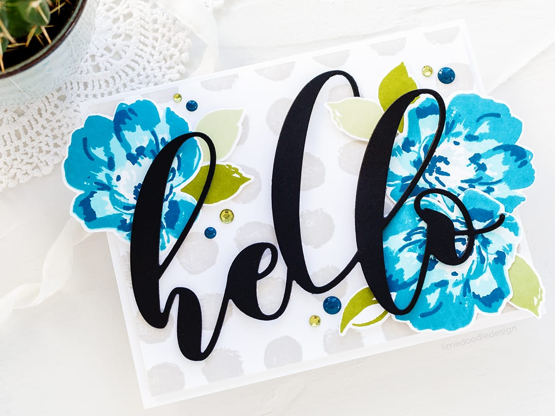 Hello, floral handmade card by Debby Hughes using new Altenew stamps and dies. Find out more: https://limedoodledesign.com/2018/04/altenew-april-2018-stamp-die-release-blog-hop-giveaway/