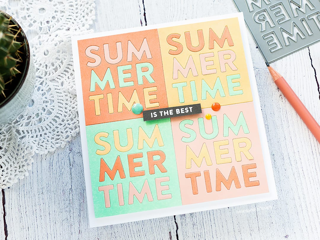 Summertime is the best! Handmade card by Debby Hughes. Find out more here: https://limedoodledesign.com/2018/05/video-inlay-die-cutting-blog-hop-giveaway/