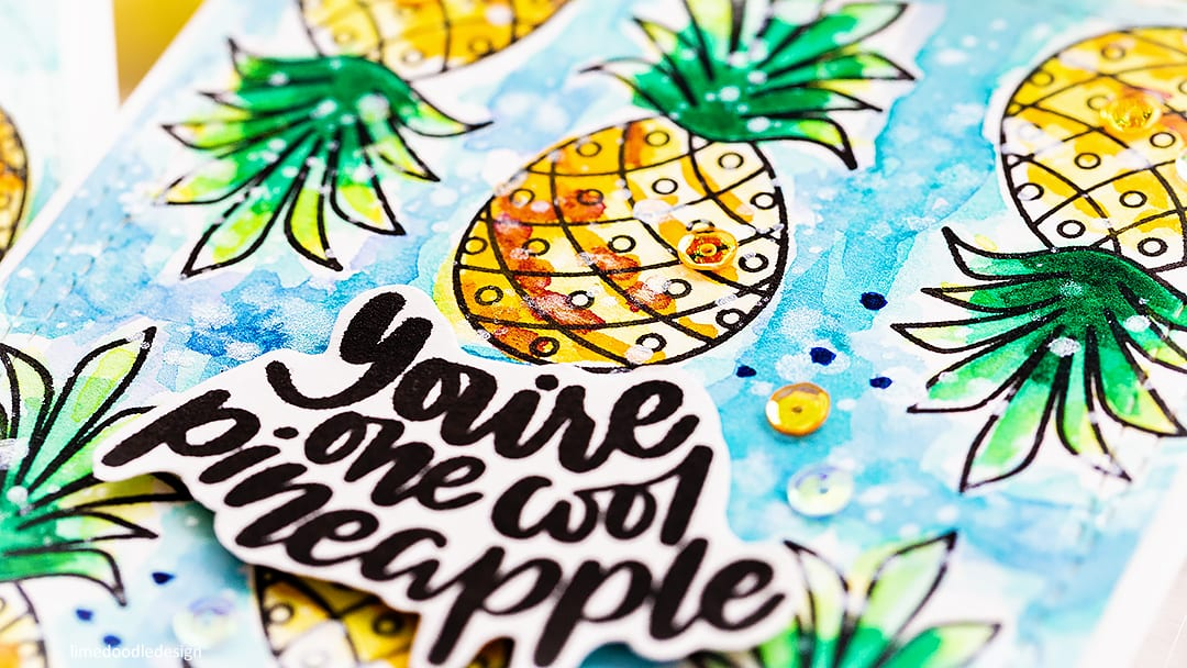 Learning to let go - messy watercoloured handmade summer card by Debby Hughes using the July Card Kit from Simon Says Stamp. Find out more here: https://limedoodledesign.com/2018/06/learning-to-let-go-messy-watercolouring/
