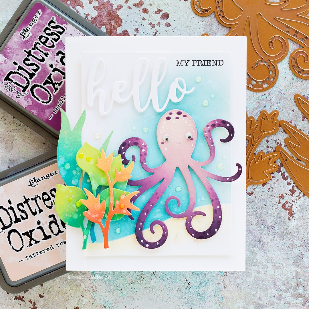 Distress Oxide blending with Spellbinders Exclusives Collection at Simon Says Stamp. Handmade card by Debby Hughes. Find out more here: https://limedoodledesign.com/2018/07/distress-oxide-blending-blog-hop-giveaway/
