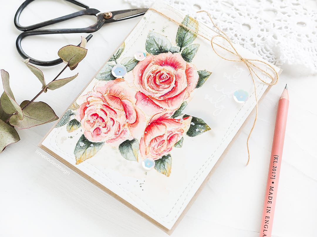 Vintage Style Watercoloured Flowers