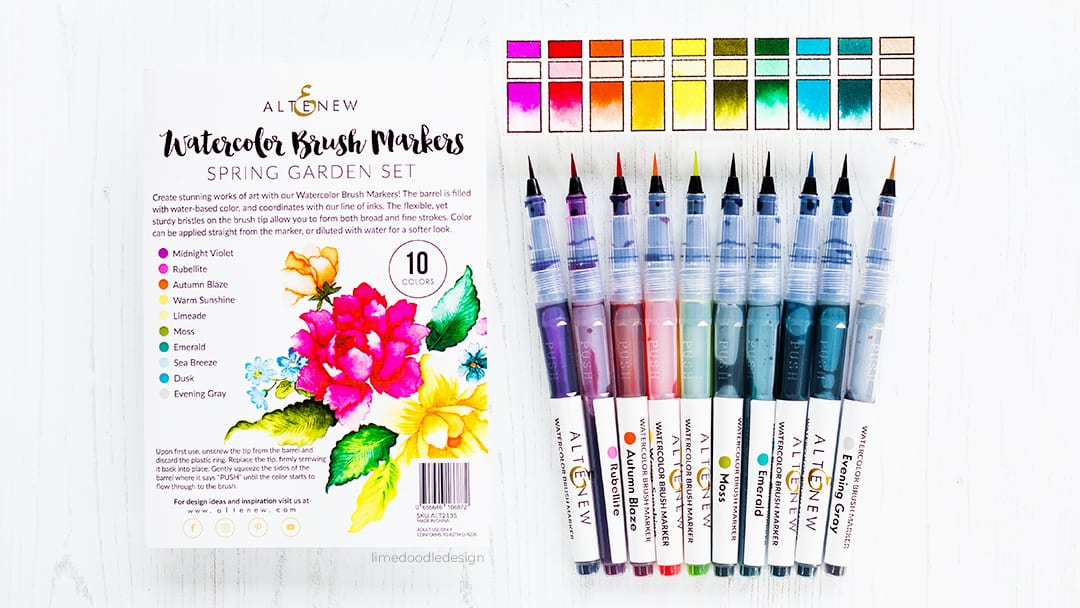 Video - Altenew watercolor brush markers - review by Debby Hughes. Find out more here: https://limedoodledesign.com/2018/10/video-altenew-watercolor-brush-markers/