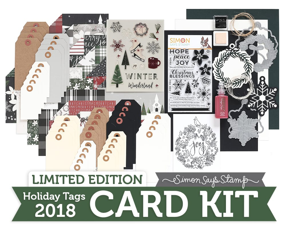 A look inside the Simon Says Stamp Limited Edition Holiday Tag Kit. Find out more here: https://limedoodledesign.com/2018/11/a-look-inside-the-sss-limited-edition-holiday-tag-kit/