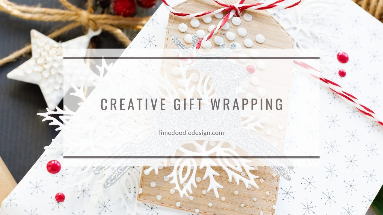 Video - creative Christmas gift wrapping by Debby Hughes using products from Simon Says Stamp. Find out more here: https://limedoodledesign.com/2018/11/video-creative-gift-wrapping/