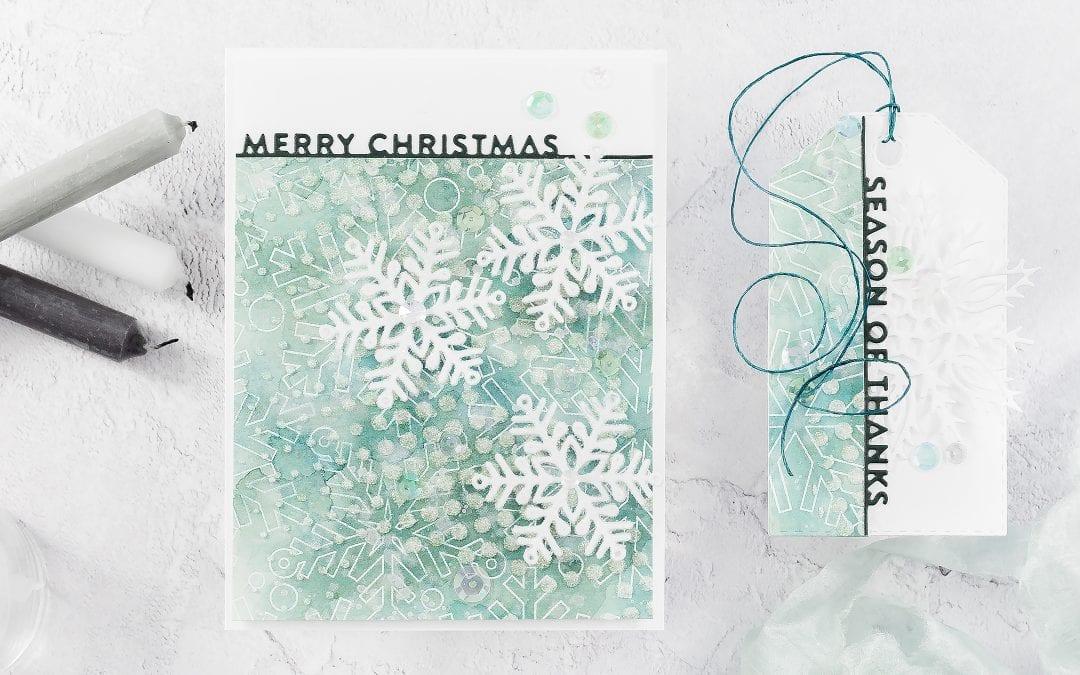 Video – Watercoloured, Layered Snowflake Background