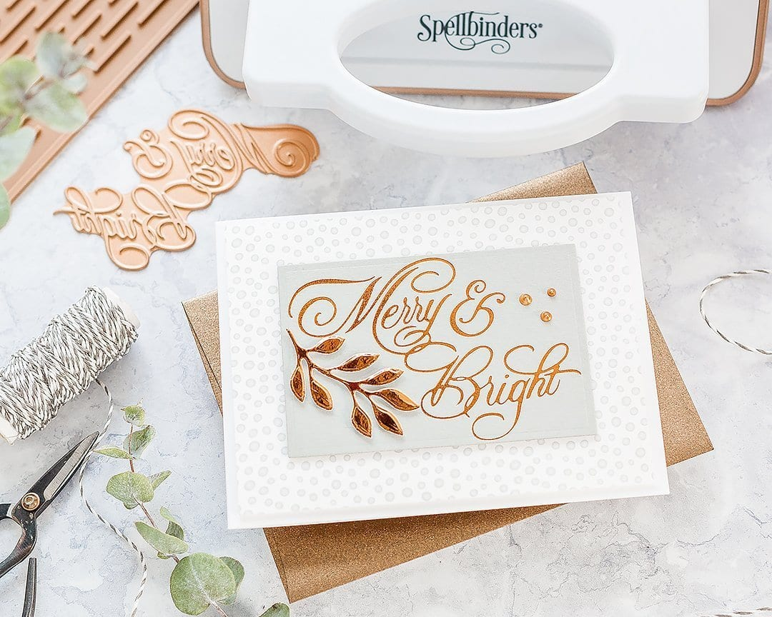 Video unboxing the Spellbinders Glimmer Hot Foil System and first foiling card with bonus letterpress effect too. Handmade card by Debby Hughes. Find out more here: https://limedoodledesign.com/2018/12/video-unboxing-spellbinders-glimmer-machine-foiled-letterpress-card/