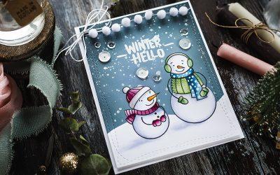 Video – Non Holiday Winter Card + SSS Card Kit + Blender Brush Set