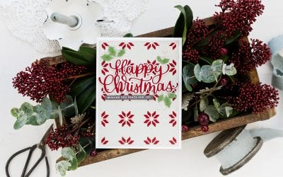 Video – Holiday Knit Background + Simon Says Stamp Diecember!