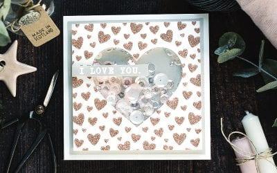 Video – Simple Valentine's Shaker Card + Blog Hop + Giveaway