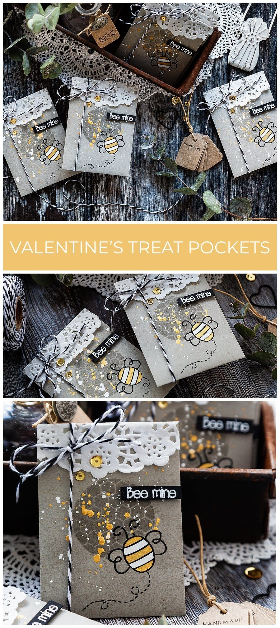 Video - cute, quick, handmade Valentine's treat pockets by Debby Hughes using supplies from Simon Says Stamp. Find out more here: https://limedoodledesign.com/2019/01/video-quick-cute-valentines-treat-pockets-sss-card-kits/