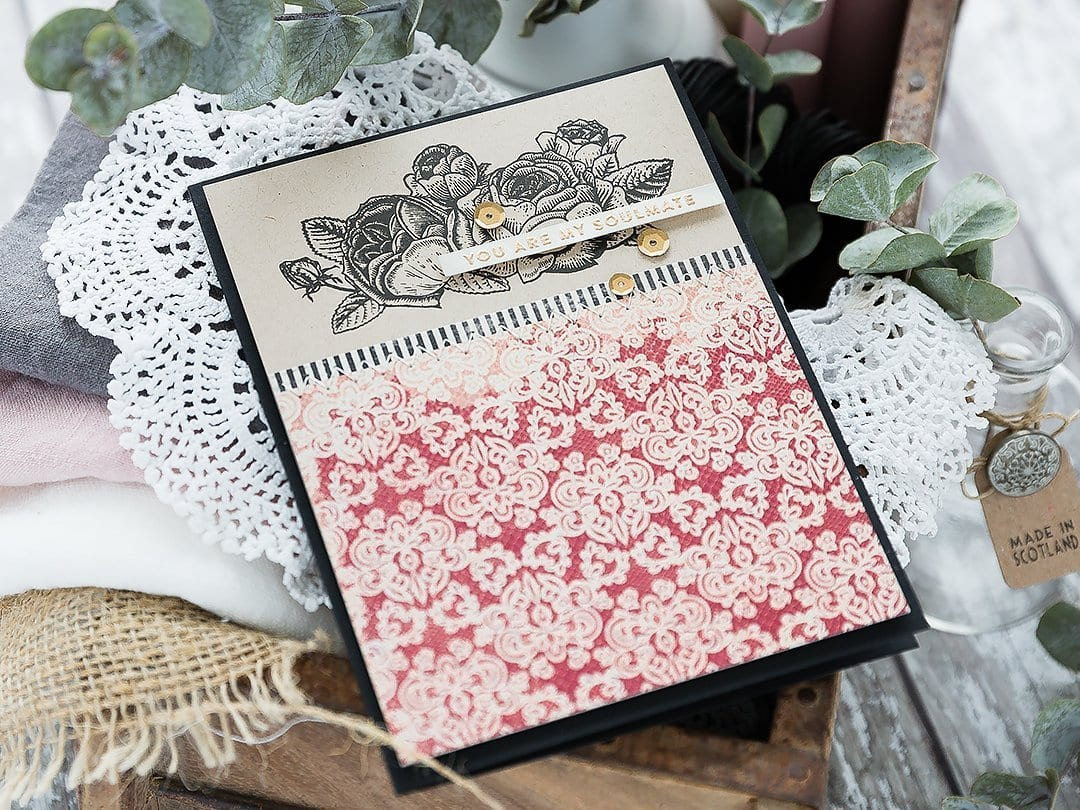 Video - simple vintage handmade valentine card by Debby Hughes using products from the February Card Kit from Simon Says Stamp. Find out more here: https://limedoodledesign.com/2019/01/video-simple-vintage-valentine/