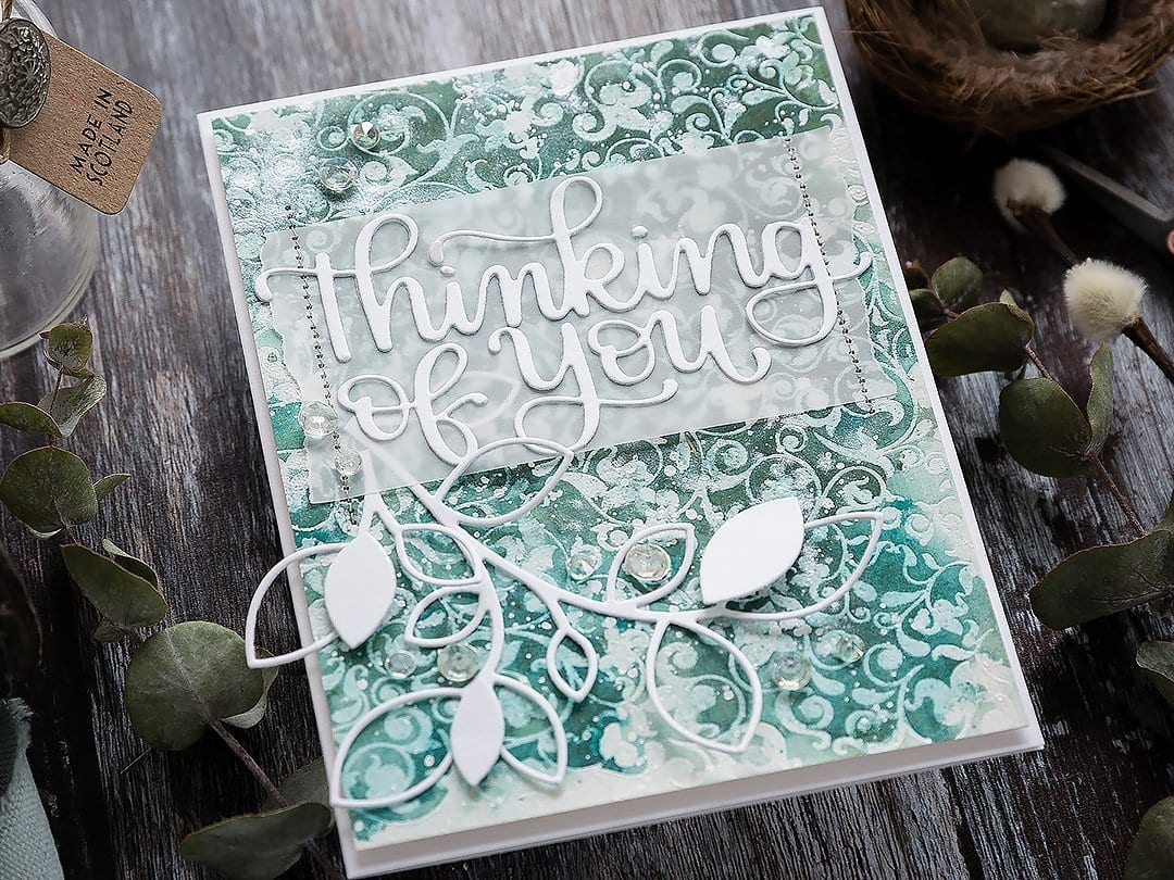 Video tutorial of one of my most favourite techniques - heat emboss resist watercolour for this soft and subtle thinking of you/sympathy handmade card by Debby Hughes. Find out more here: https://limedoodledesign.com/2019/02/video-heat-emboss-resist-watercoloured-background/
