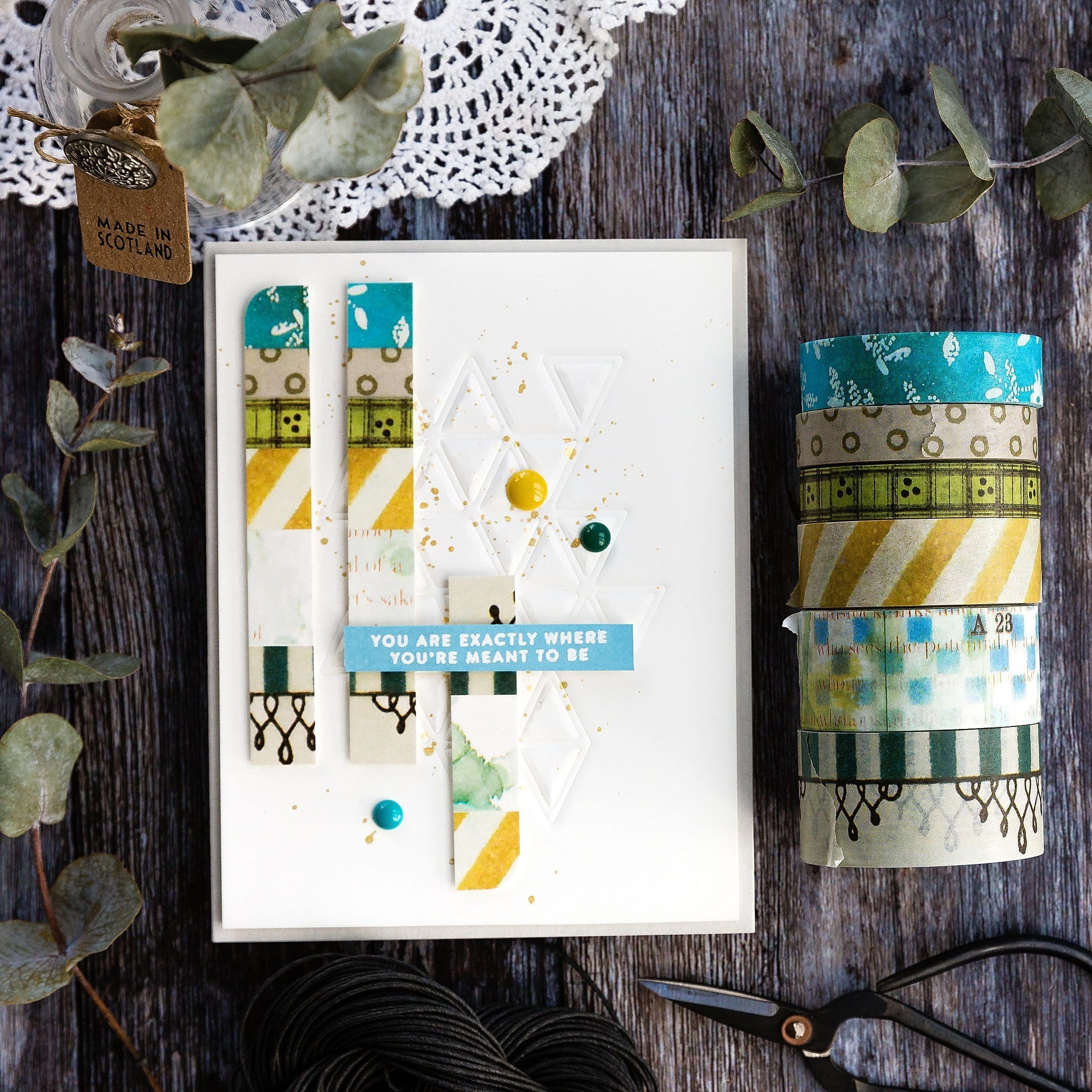 Simple washi tape handmade cards by Debby Hughes using supplies from Wendy Vecchi and Simon Says Stamp. Find out more here: https://limedoodledesign.com/2019/03/simple-washi-tape-cards/