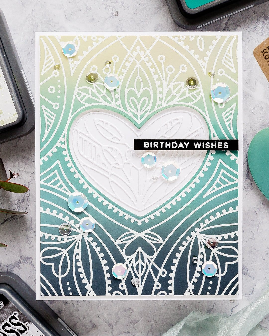 Video - Distress Oxide blending inspired by Kristina Werner's series. Handmade birthday card by Debby Hughes using supplies from Simon Says Stamp. Find out more here: https://limedoodledesign.com/2019/03/video-blended-distress-oxide-background/