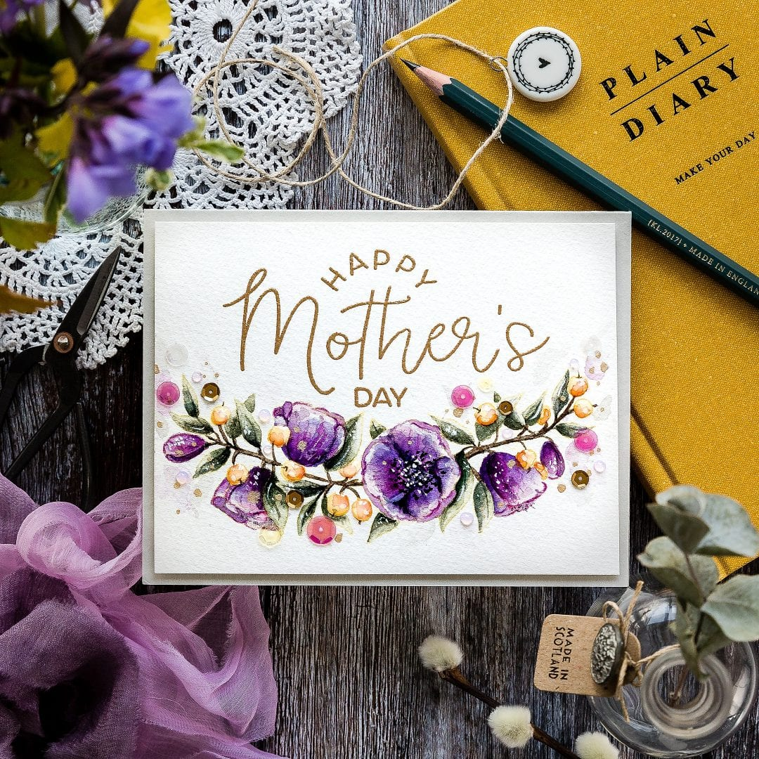 Watercoloured Mother's Day Card