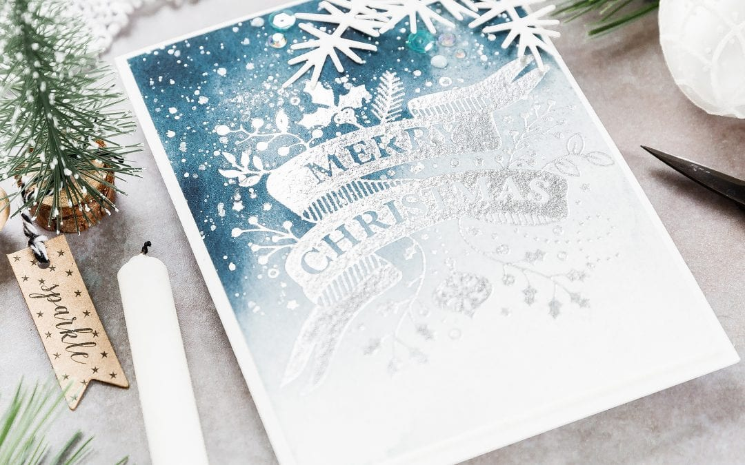 Video – Foiled Watercolour Christmas Card