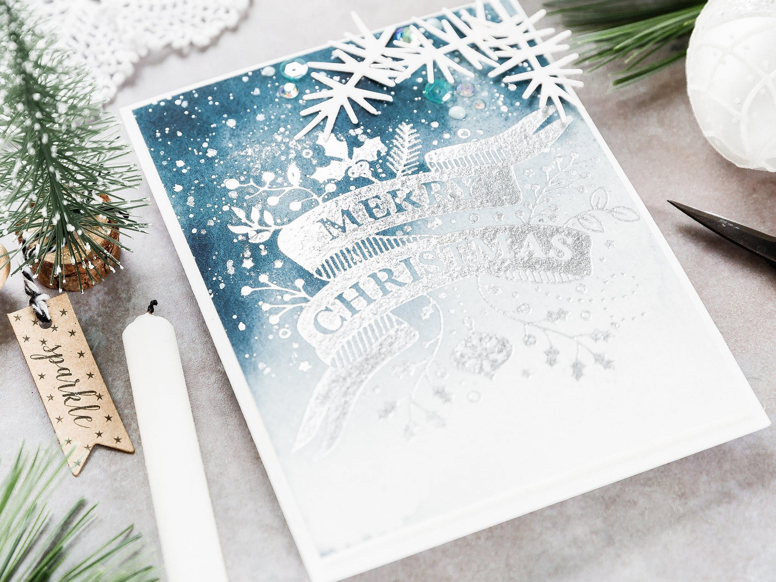Video – Foiled Watercolour Christmas Card