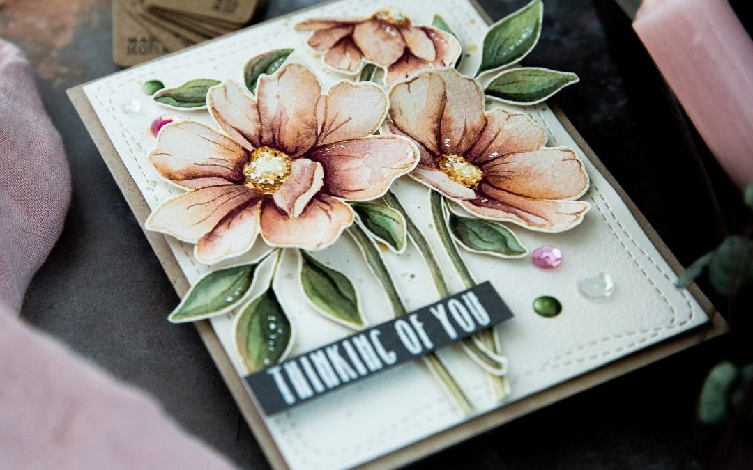 Muted Watercolour Autumn Florals + Simon Says Stamp Card Kit