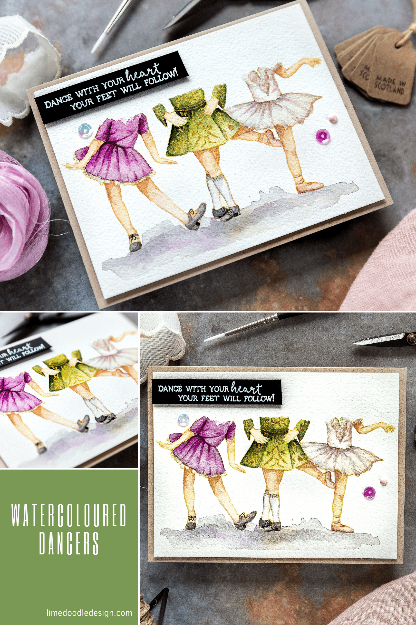 Colorado Crafts STAMPtember exclusive Lovely Legs set is perfect for dancers. Handmade card by Debby Hughes. Find out more here: https://limedoodledesign.com/2019/09/colorado-crafts-stamptember/