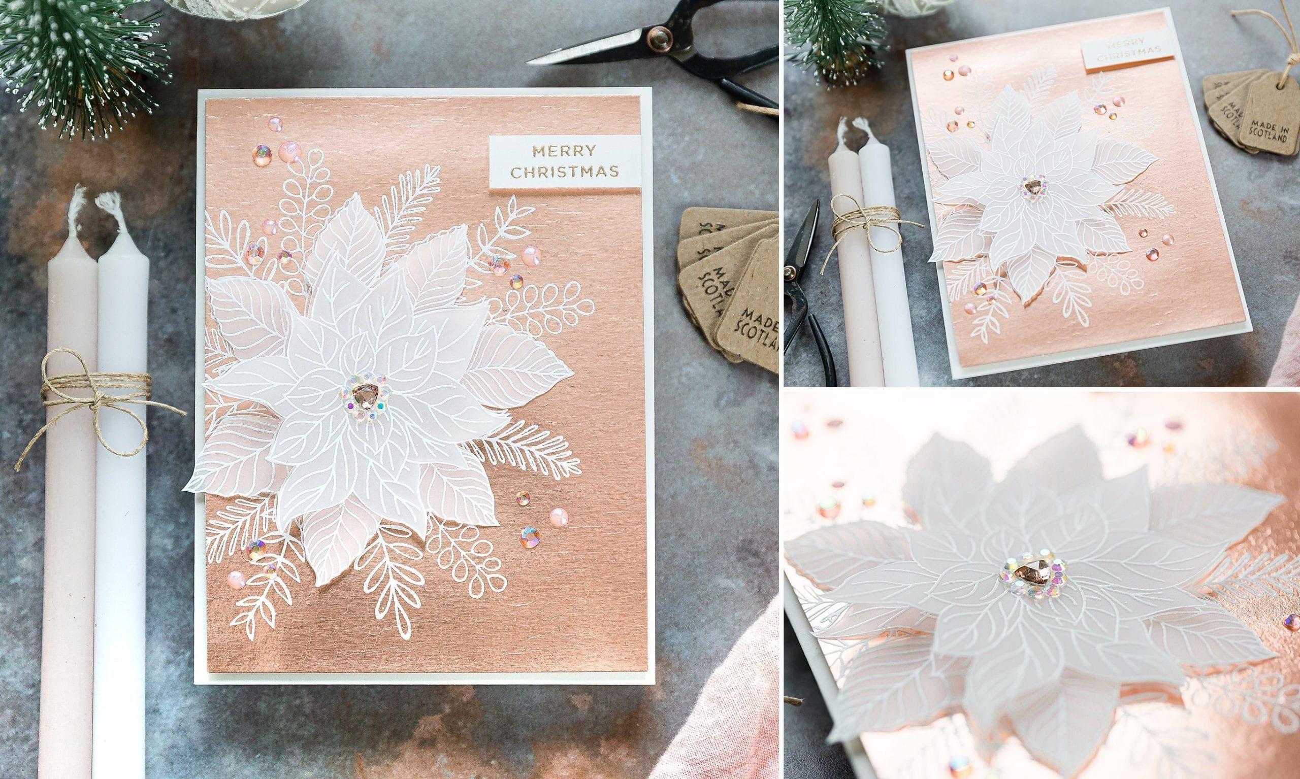 Gina K exclusive STAMPtember Festive Floral set. Handmade Christmas card by Debby Hughes. Find out more here: https://limedoodledesign.com/2019/09/gina-k-stamptember/