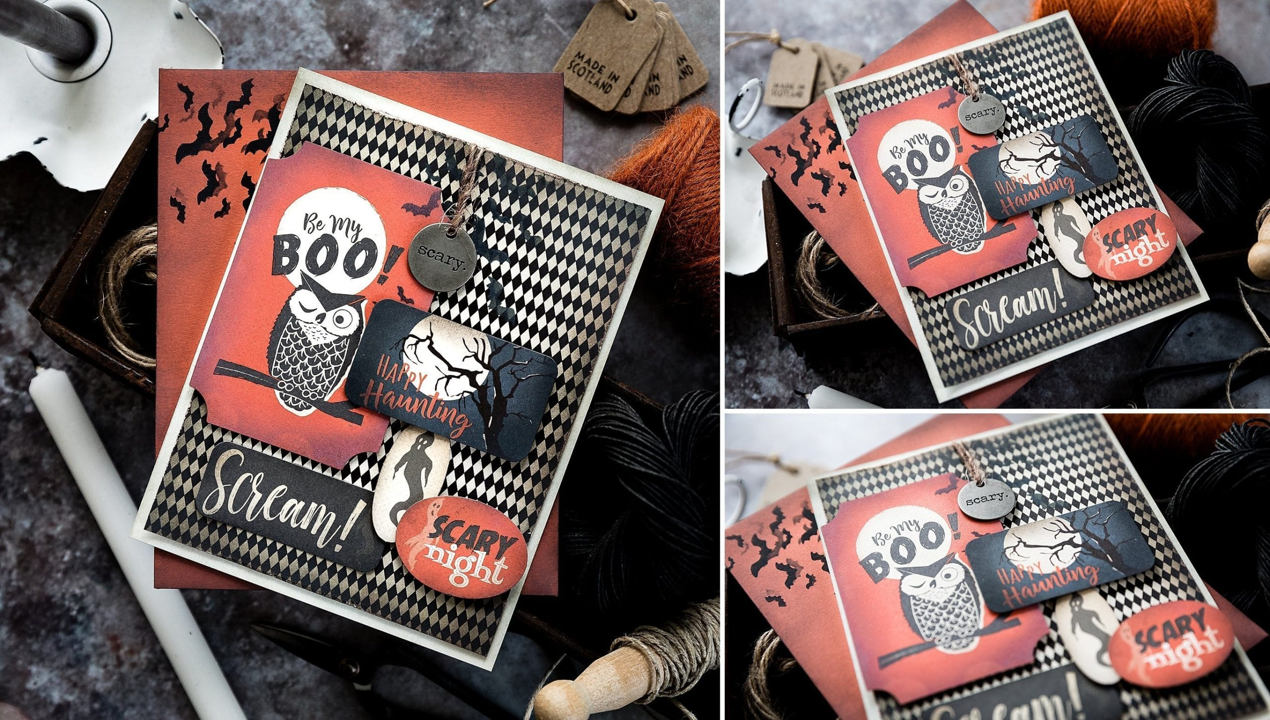 Halloween handmade card by Debby Hughes using the Limited Edition Halloween Card Kit from Simon Says Stamp. Find out more here: https://limedoodledesign.com/2019/09/limited-edition-stamptember-halloween-card-kit/