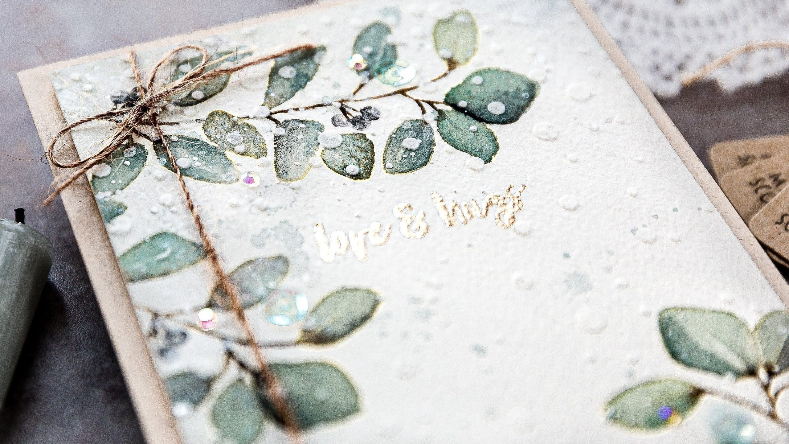 Watercoloured winter leaves handmade card by Debby Hughes using the Reverse Confetti STAMPtember set. Find out more here: https://limedoodledesign.com/2019/09/reverse-confetti-stamptember/