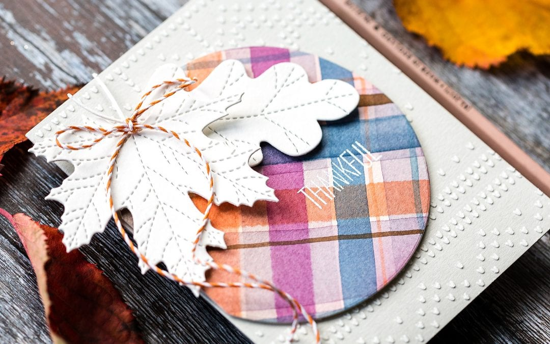 Watercoloured Fall Tartan + Blog Hop + Giveaway