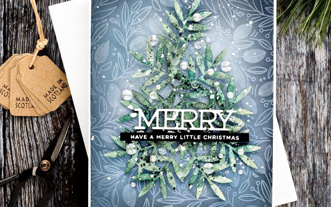 Die Cut Christmas Tree + Diecember Blog Hop + Giveaway