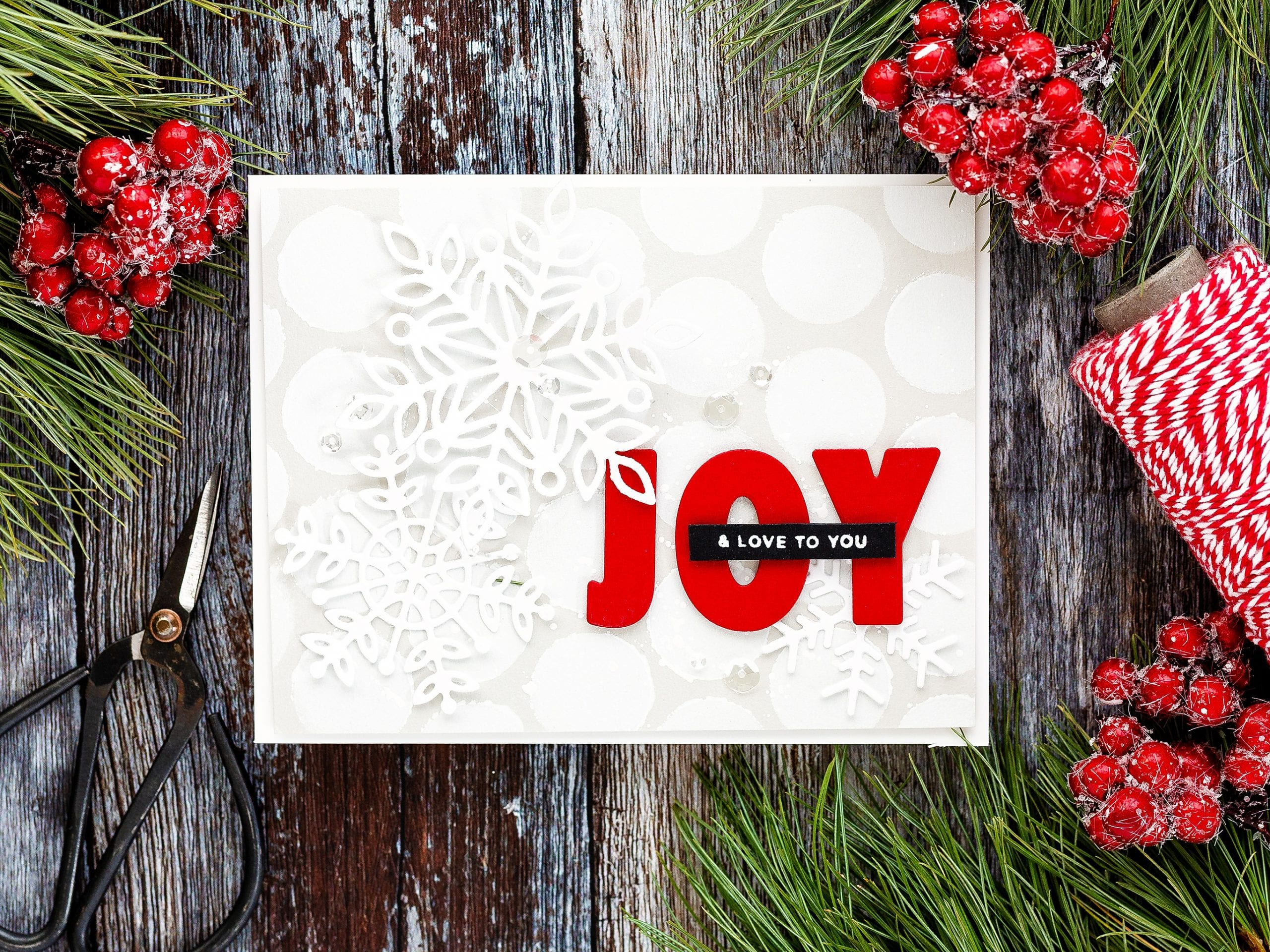 Video tutorial - batch creating Christmas cards. Handmade Holiday cards by Debby Hughes using supplies from Simon Says Stamp.