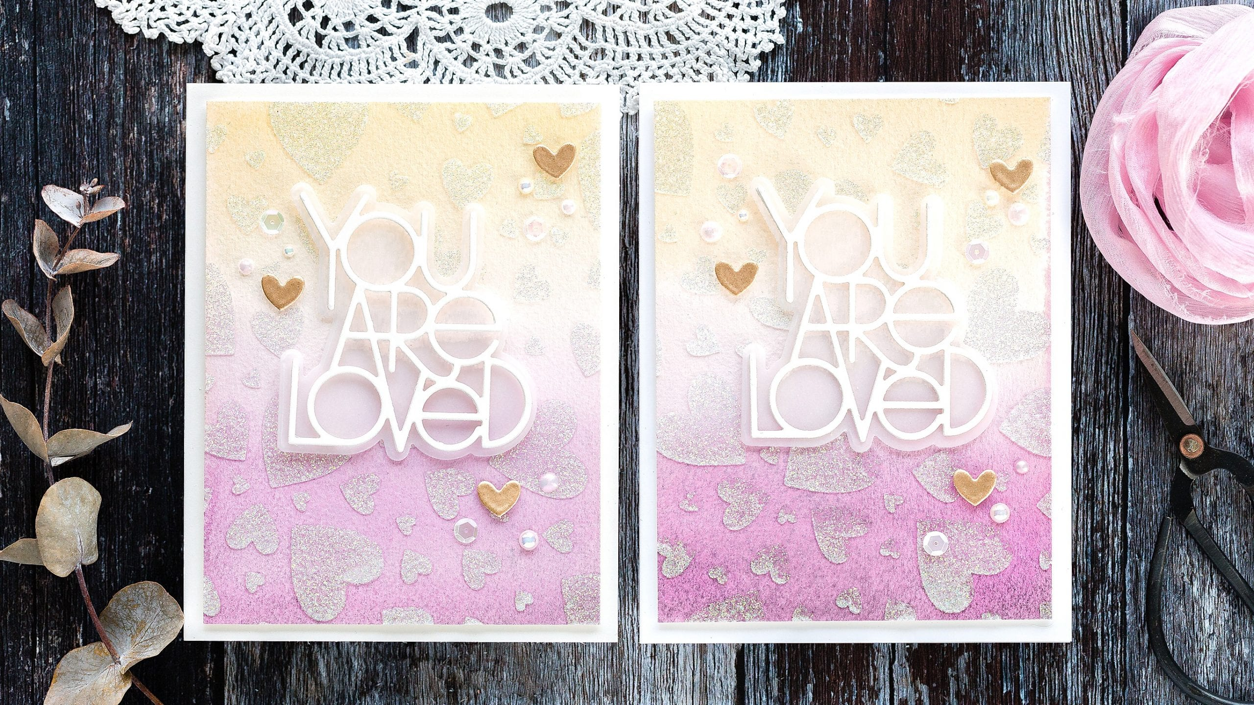 Video -easy watercoloured background tutorial, handmade Valentine's card by Debby Hughes using supplies from Simon Says Stamp. Click to find out more. #handmadecard #homemade #watercolortutorial