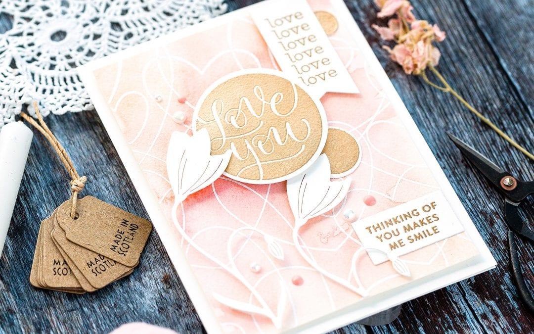 Easy Watercolour Backgrounds II + February Card Kit