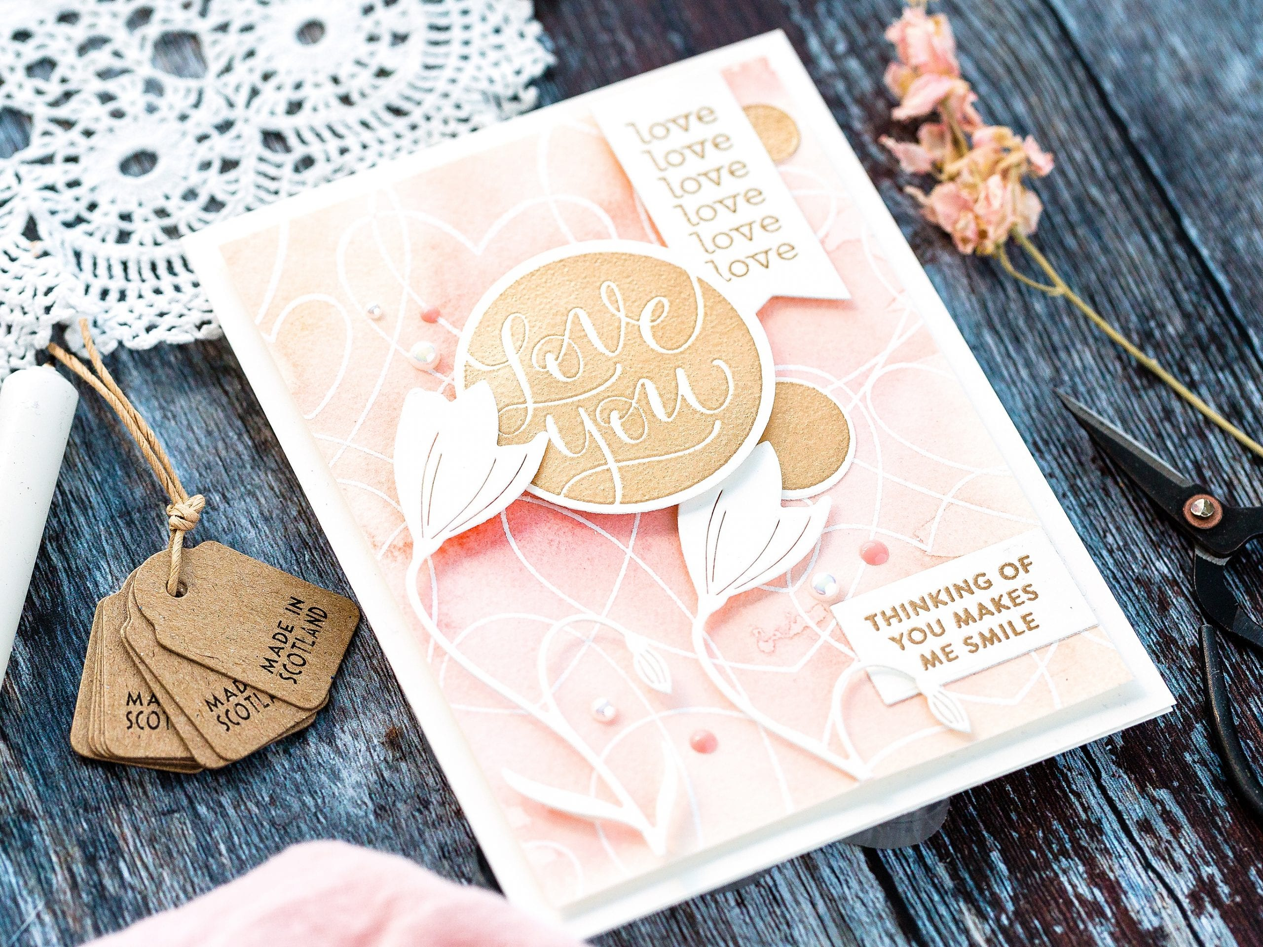 Easy Watercolour Backgrounds II + February Card Kit