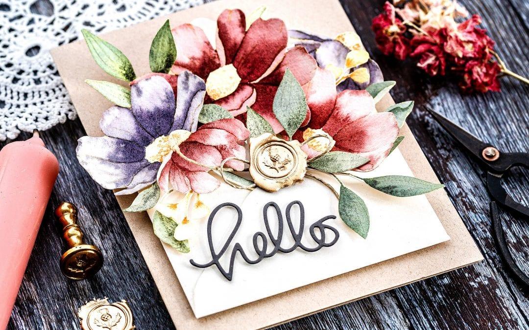 Watercoloured Flower Envelope