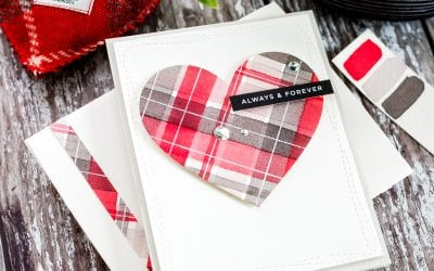 Video – Simple Watercoloured Tartan Heart Minimal Supplies