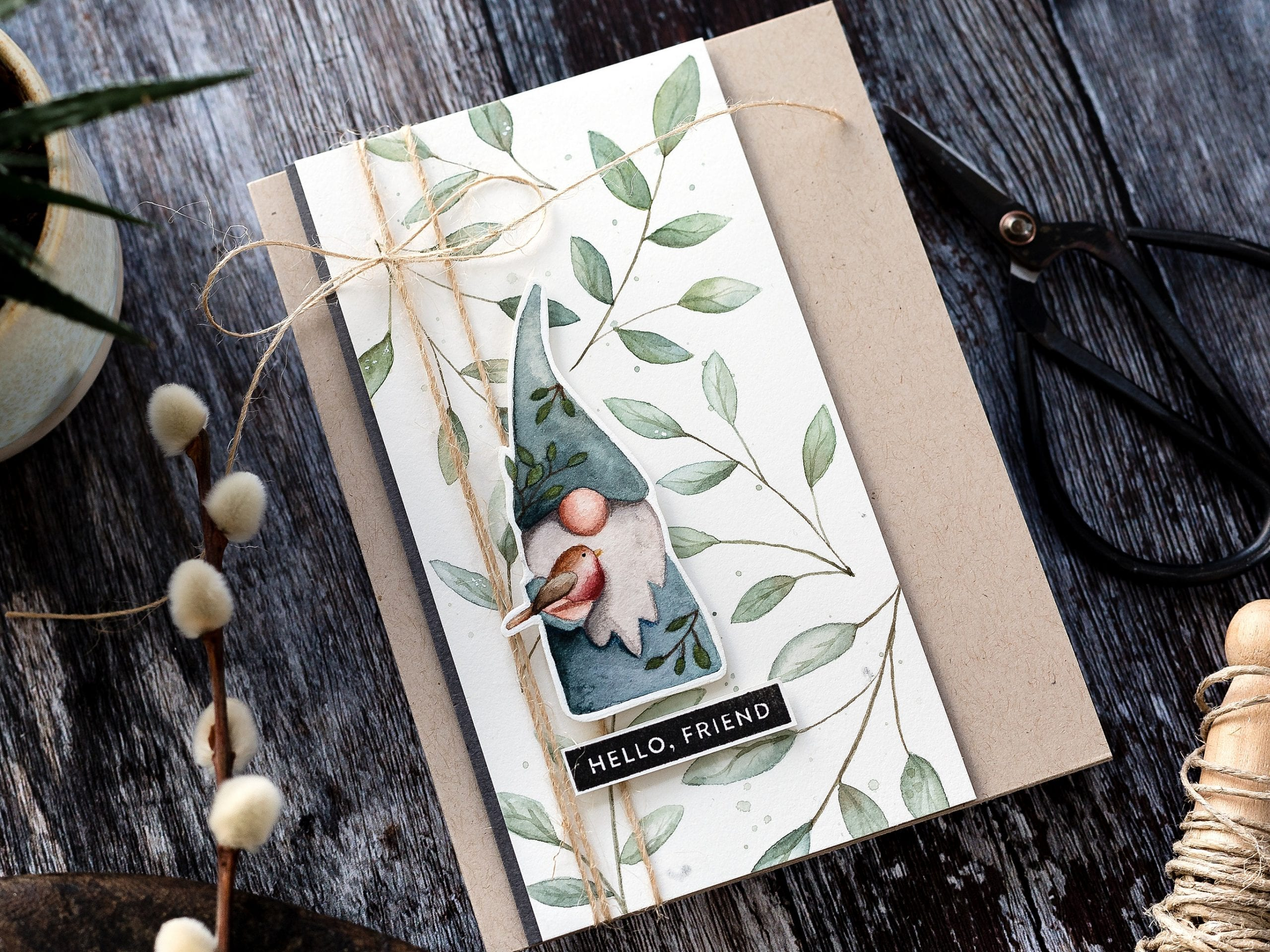 Woodland Gnome Watercolour