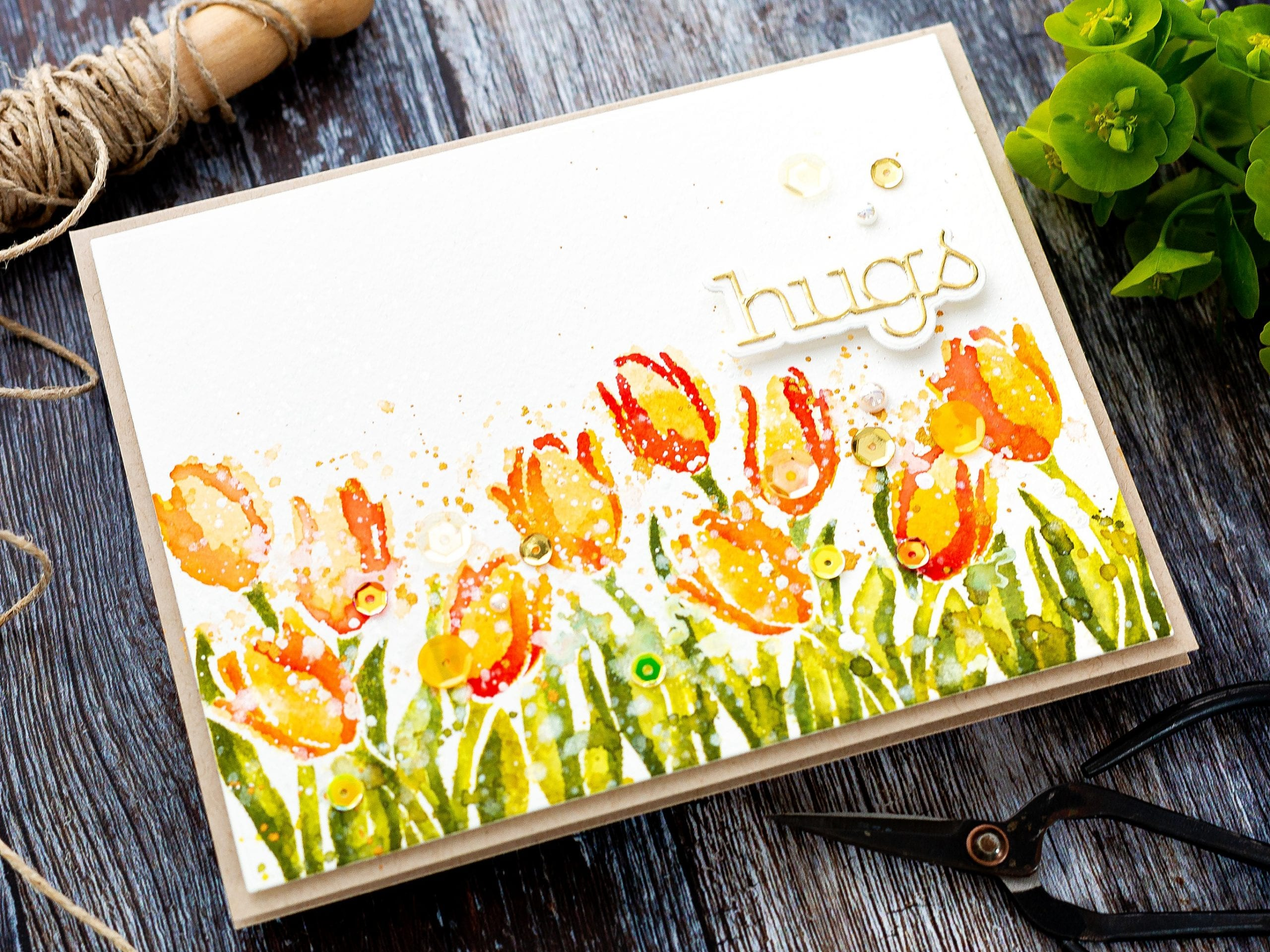Faux Watercoloured Tulips
